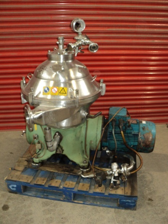 Westfalia Model SA 20-06-076 Stainless Steel Clarifier Centrifuge