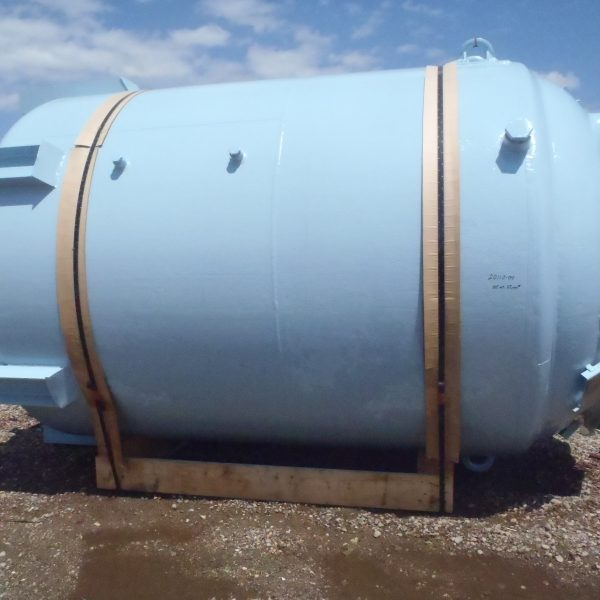 Reglassed 5,000 Gallon 100 FV Internal, 90 Jacket Pfaudler Glass Lined Reactor Body