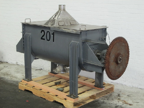 8 Cubic Foot JH Day Stainless Steel Double Ribbon Blender