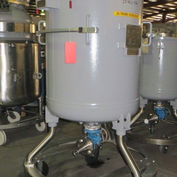125 Gallon, 100 PSI/FV, De Dietrich Glass Lined Tank