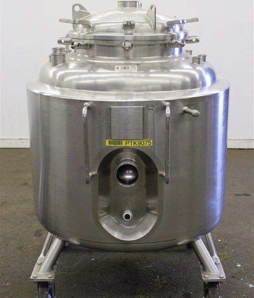 105 Gallon 40 PSI Internal, 90 PSI Jacket 316L Stainless Steel Reactor