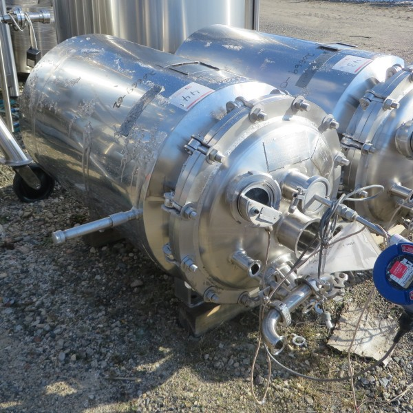 50 Gallon Stainless Steel Vertical Tank, 21″ Dia. X 2'6″ Straight Side