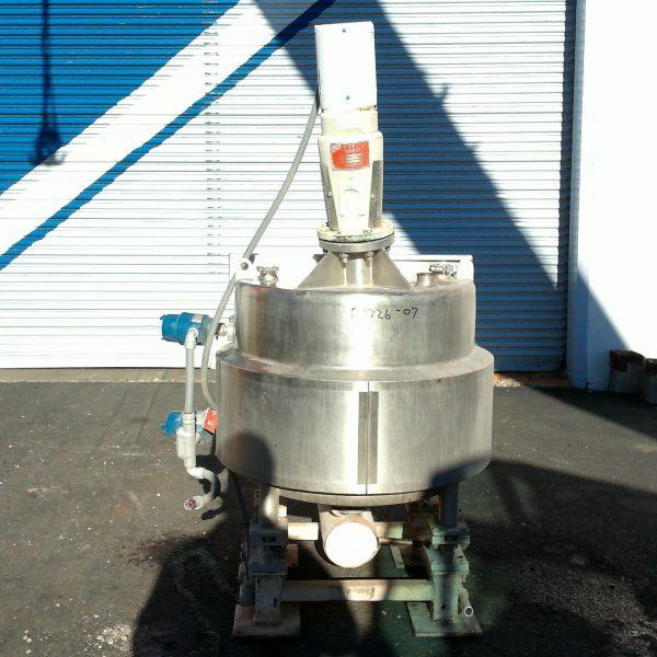 75 Gallon Stainless Steel Tank, 32″ Dia. X 22″ Straight Side, 3/4 HP Nettxo Agitator