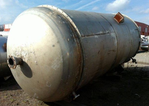 4,800 Gallon 304L Stainless Steel Vertical Tank, 7′ Dia. X 14′ Straight Side