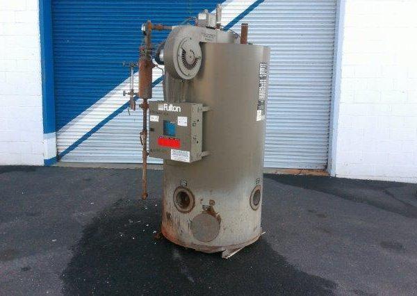 832#/Hour 150 PSI Fulton Gas Fired Boiler