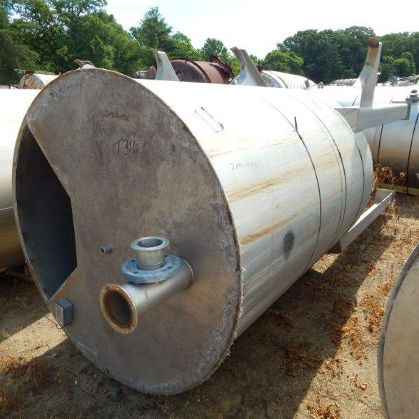 950 Gallon Stainless Steel Vertical Tank, 60″ Dia. X 78″ Straight Side