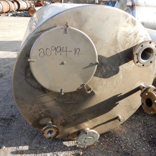 700 Gallon Stainless Steel Vertical Tank, 53″ Diameter X 80″ Straight Side