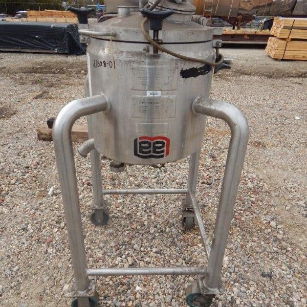 8 Gallon 15 PSI Internal, 100 PSI Jacket Stainess Steel Mixing Vessel
