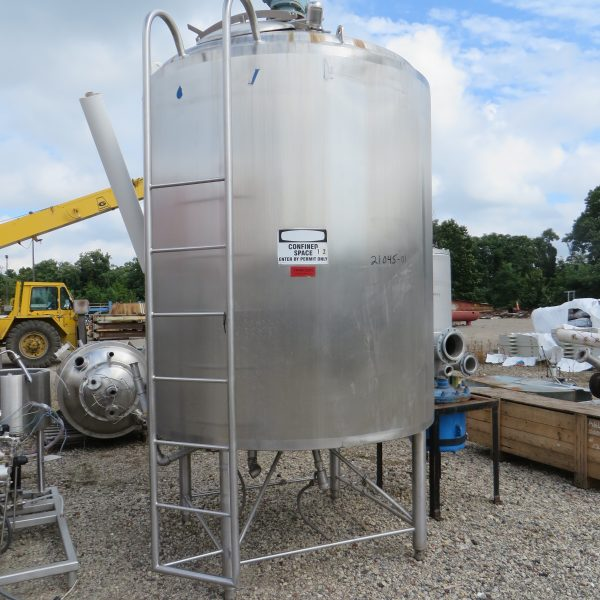 Used Stainless Steel Tanks 1,000 to 2,000 Gallons