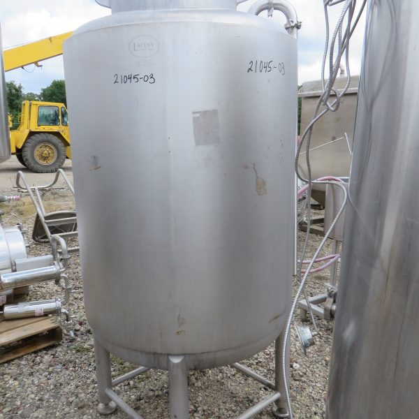 220 Gallon Stainless Steel Vertical Tank, 36″ Dia. X 50″ Straight Side