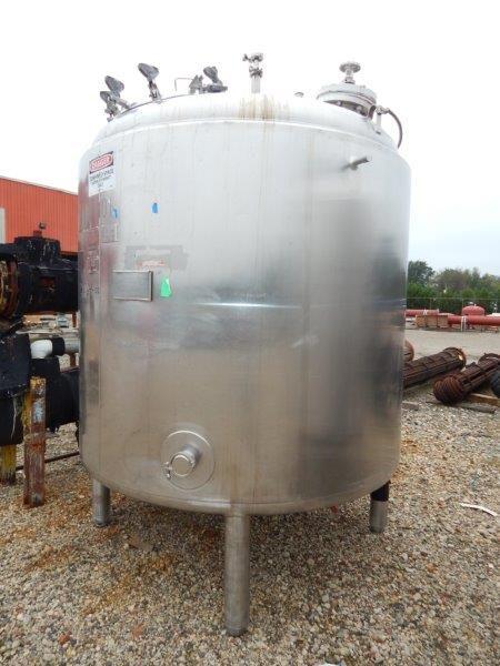 1,000 Gallon 50 PSI Internal, 100 PSI Jacket Stainless Steel Reactor