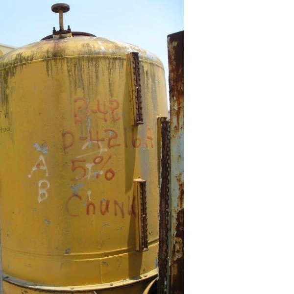 1,000 Gallon 304 Stainless Steel Tank, 72″ Dia. X 5′ High