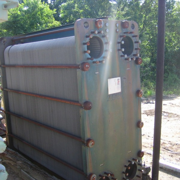 6450 Sq. Ft. Pasilac Therm Stainless Steel Plate Heat Exchanger