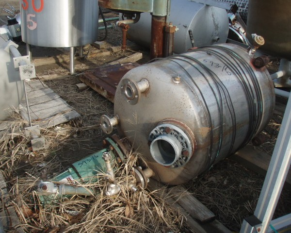 200 Gallon Stainless Steel Tank, 3′ Dia. X 4′ Straight Side