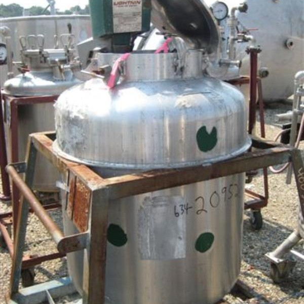 100 Gallon Stainless Steel Vertical Tank, 30″ Dia. X 30″ Straight Side, 50 PSI