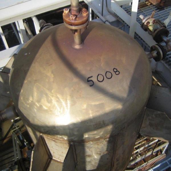 100 Gallon 304L Stainless Steel Vertical Tank, 30″ Diameter X 36″ Straight Side, 15 PSI