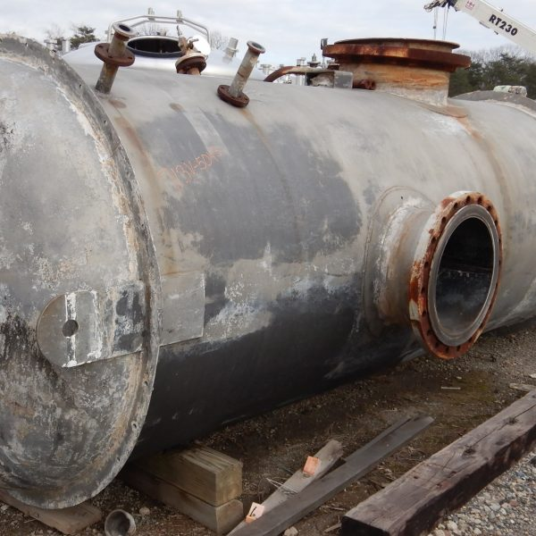 2,450 Gallon 304L Stainless Steel Vertical Tank, 5′ Dia. X 15′ Straight Side
