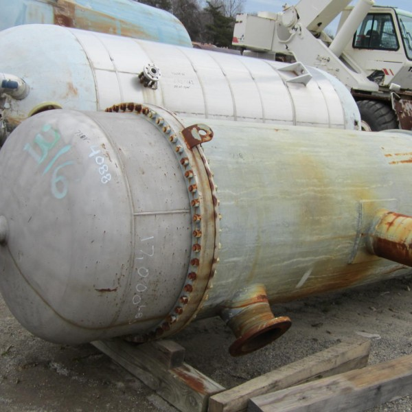 3677 Sq. Foot Industrial Process Equipment Vertical Shell and Tube Heat Exchanger