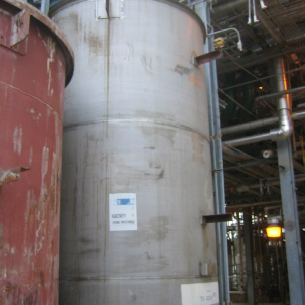 3,750 Gallon Vertical 304L Stainless Steel Storage Tank, 7′ Dia. X 13'6″ Straight Side