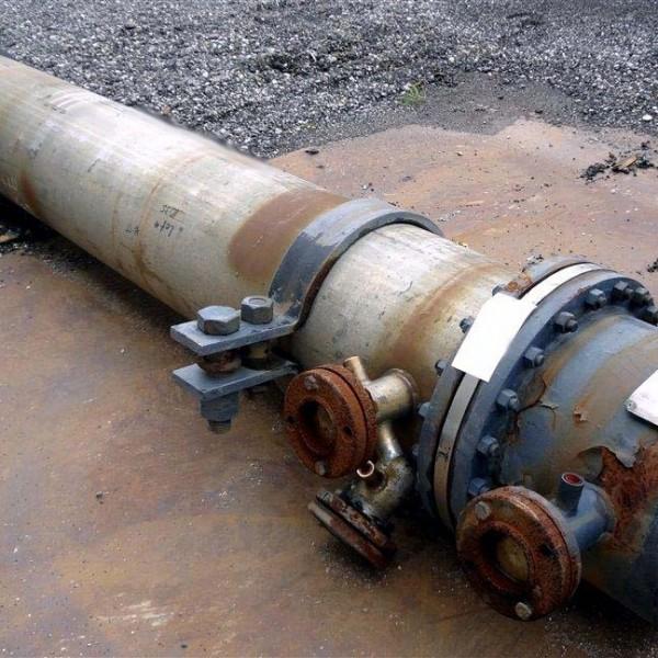 597 Sq. Foot JFD Tube & Coil Products Horizontal U-Tube Heat Exchanger