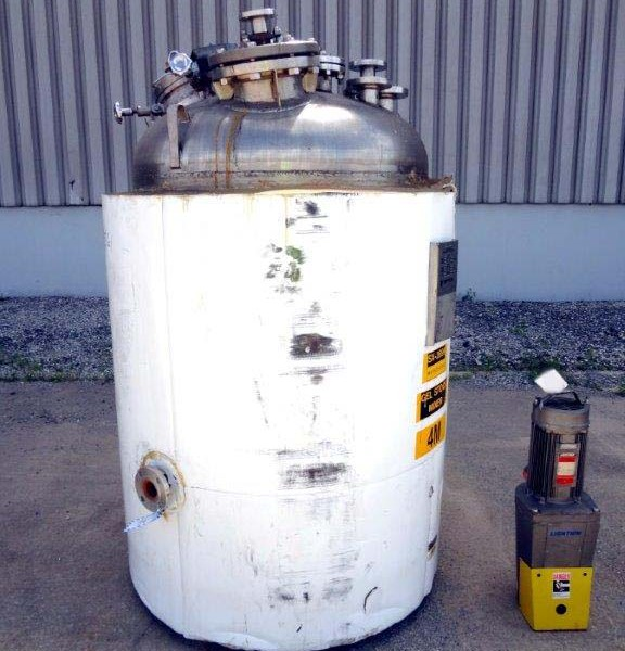300 Gallon 80 PSI Internal, 100 PSI Jacket 316L Stainless Steel Reactor
