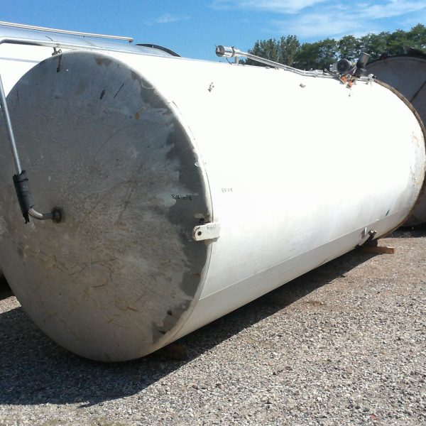 6,000 Gallon Stainless Steel Vertical Tank, 9′ Dia. X 8′ Straight Side