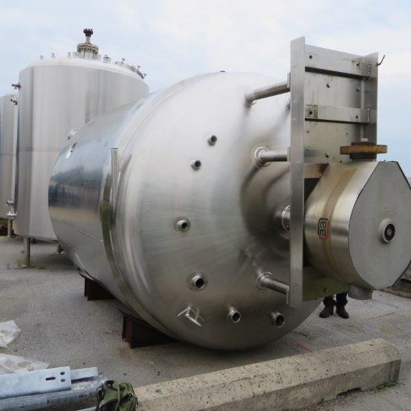 3000 Gallon Lee Stainless Steel Double Motion Sanitary Jacketed Kettle