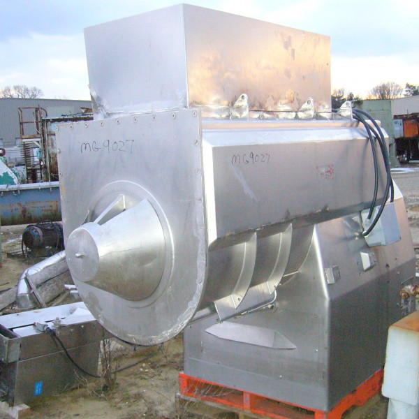 35 Cubic Foot Wolfking Stainless Steel Single Shaft Paddle Ribbon Blender