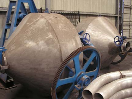 70 Cubic Foot Abbe 304 Stainless Steel Double Cone Mixer