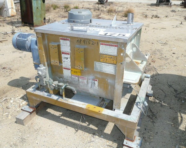 3.5 Cubic Foot Kelley Duplex Steel Non-Jacketed Paddle Mixer