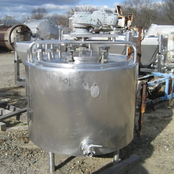 150 Gallon Polished Stainless Steel Processor