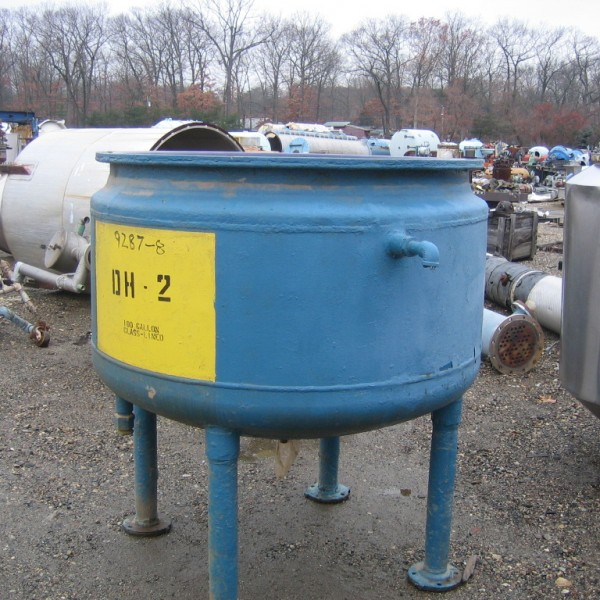 188 Gallon 25 Internal, 90 Jacket Pfaudler Glass Lined Reactor