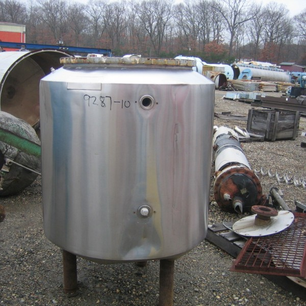 100 Gallon 150 FV Internal, 100 Jacket Ceramic Coatings Glass Lined Jacketed Vessel