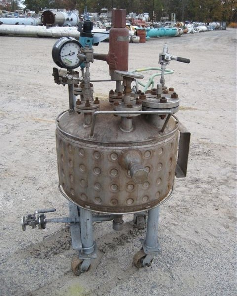 50 Gallon 60 PSI Internal, 120 PSI 316L Stainless Steel Jacket Reactor