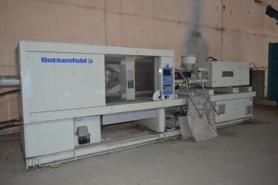 250 Tons 22 Oz Shot Battenfeld Model BK-T 2500/800 Injection Molder