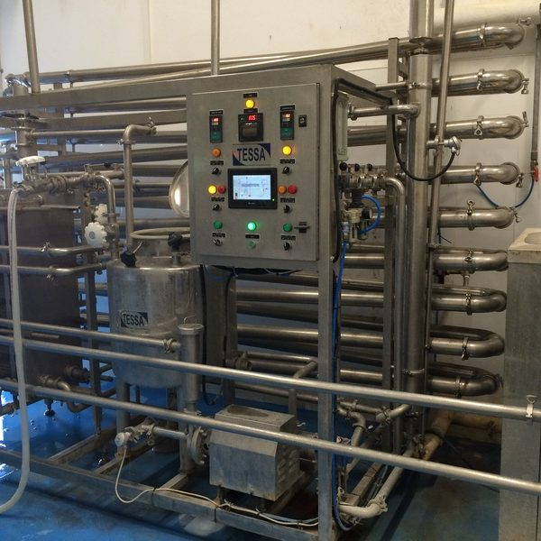 Used UHT dairy sterilization unit with the capacity 5000 ltr/h, homogenizer with 200 bar pressure.