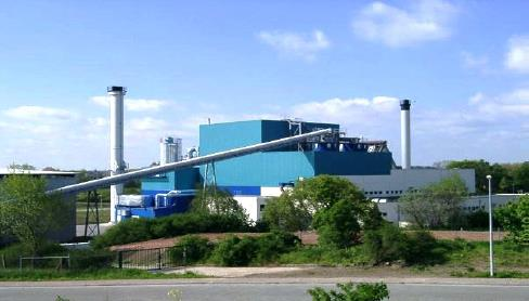 Used biomass power plant with electrical output 5000 KW per hour