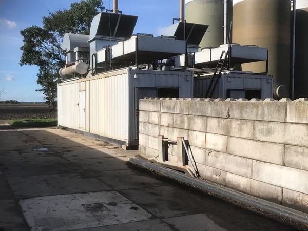 Used Gas generator Deutz with the electrical output 750 KW operated on biogas