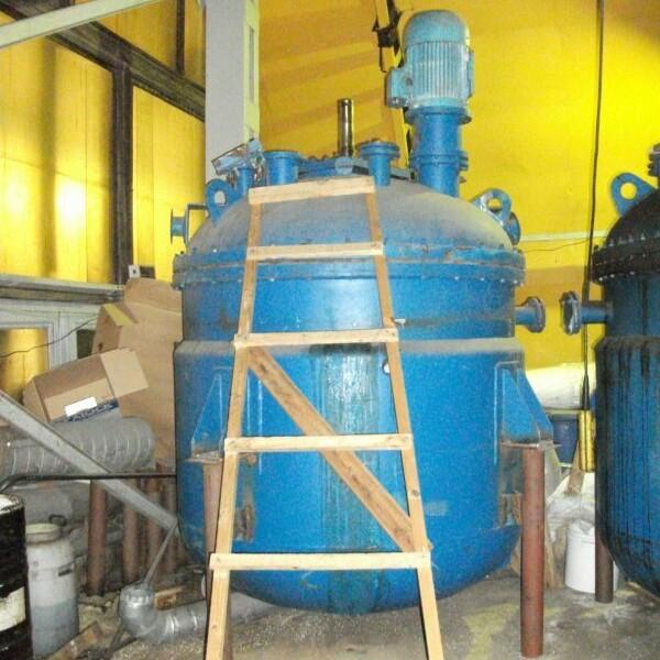 5,000 Litre, 6 Bar Internal, 4 Bar Jacket, Stainless Steel Vertical Reactor