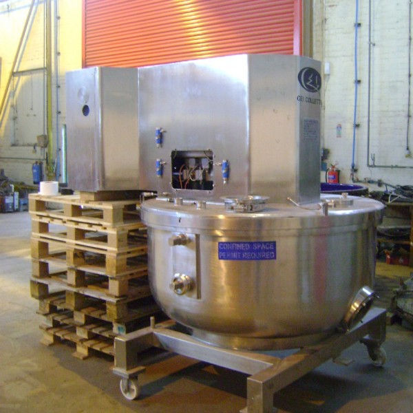 1,200 Litre Collette Type Gral1200 Stainless Steel Mixer Granulator