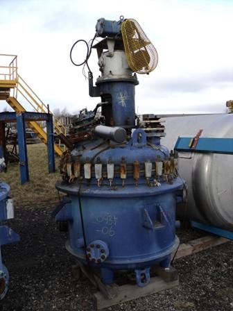 450 Litre, 2 Bar Internal, 5/4 Bar Jacket, Cannon Glass Lined Reactor