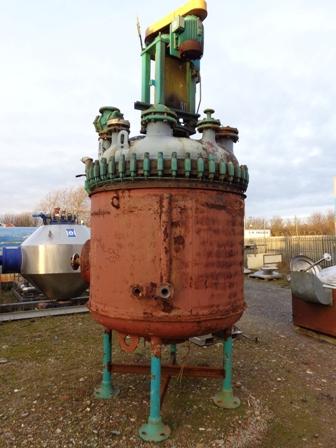 2,500 Litre, 6 Bar Internal, 6 Bar Jacket, Pfaudler Glass Lined Reactor