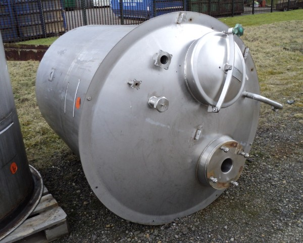 1,780 Litre JA Welch Stainless Steel Vertical Mixing Vessel, 1219mm Dia x 1525mm Straight Side