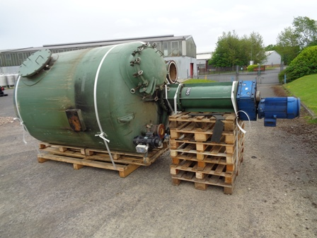 5,200 Litre Oliver Y Battle Carbon Steel Vertical Mixing Vessel, 1700mm Dia x 1910mm Straight Side