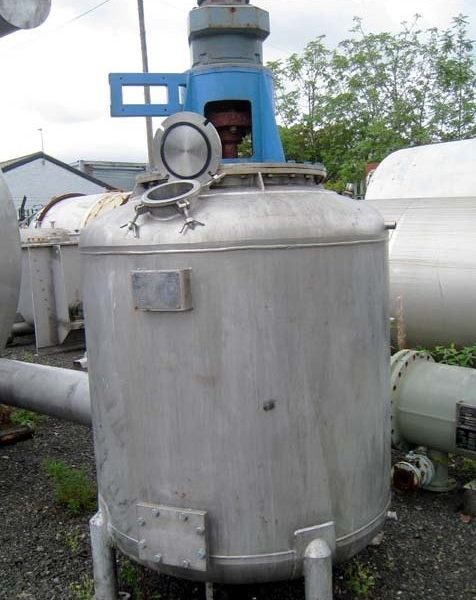 1,200 Litre Stainless Steel Vertical Mixing Vessel, 1160mm Dia x 1000mm Straight Side