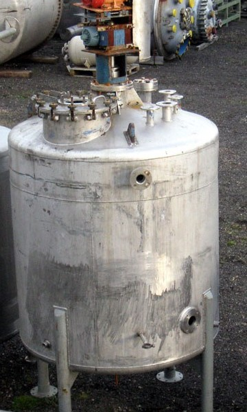 3,000 Litre Stainless Steel Vertical Mixing Vessel, 1550mm Dia x 1500mm Straight Side