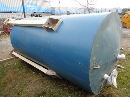 4,500 Litre Stainless Steel Vertical Jacketed Storage Vessel, 1500mm Dia x 2840mm Straight Side