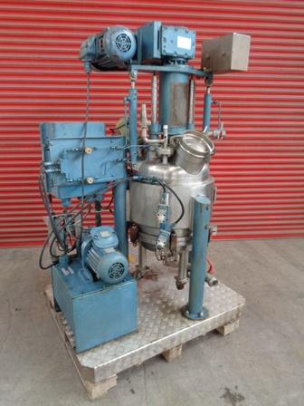 0.25 Sq. M. Inox Glatt Stainless Steel Nutsche Filter Dryer