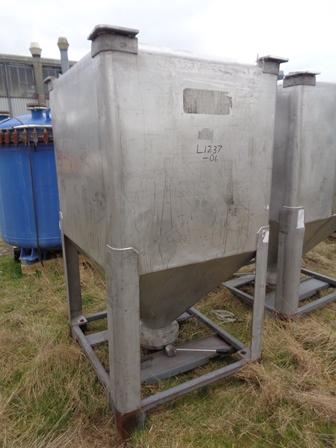 1,500 Litre IBC Stainless Steel Bin