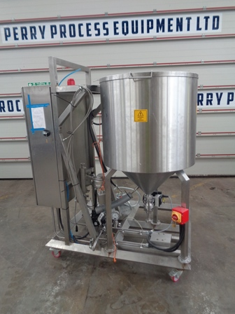 300 Litre Stainless Steel Vertical Jacketed Mixing Vessel, 680mm Dia x 700mm Straight Side
